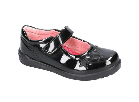 RICOSTA GIRLS SCHOOL-LYLA- BLACK PATENT