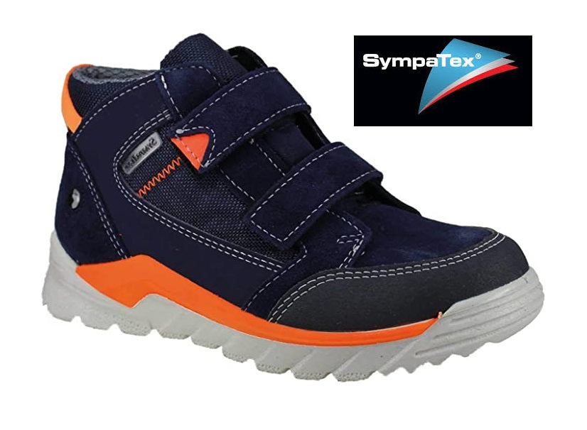 RICOSTA MARVI-BOYS WATERPROOF BOOT-4720500/172-NAVY/ORANGE