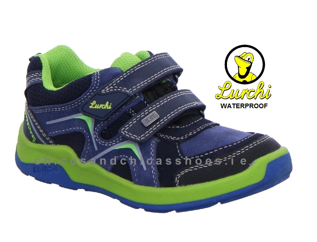 LURCHI-BOYS WATERPROOF SHOE/RUNNER - 33/23424/22  -MATTHIAS/TEX - NAVY/GREEN