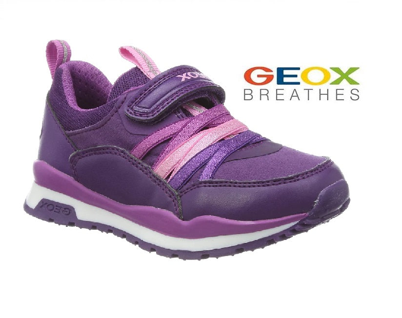 GEOX GIRLS RUNNERS-J PAVEL-J948CB-VIOLET/PURPLE