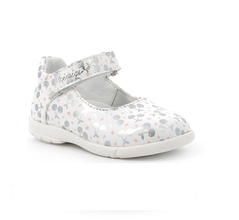 PRIMIGI GIRS SHOES-5402411-WHITE/SILVER PATENT