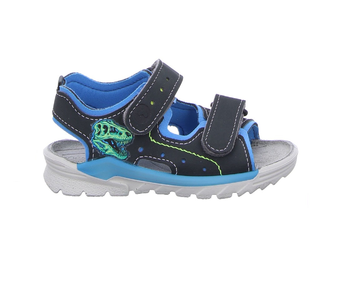 RICOSTA BOYS WATERPROOF SANDAL-SURF-GREY/SKY