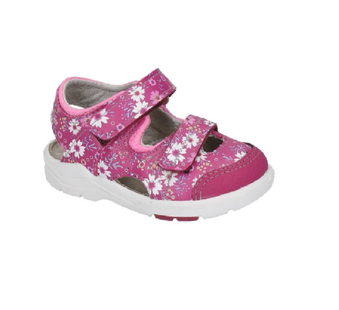 RICOSTA PEPINO GIRLS CLOSED TOE SANDAL-DOBBIE-ROSADA