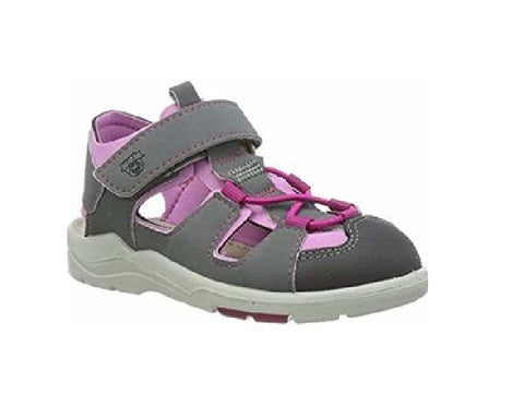 RICOSTA PEPINO GIRLS-CLOSED TOE SANDAL-GERY- GRAPHITE/CANDY