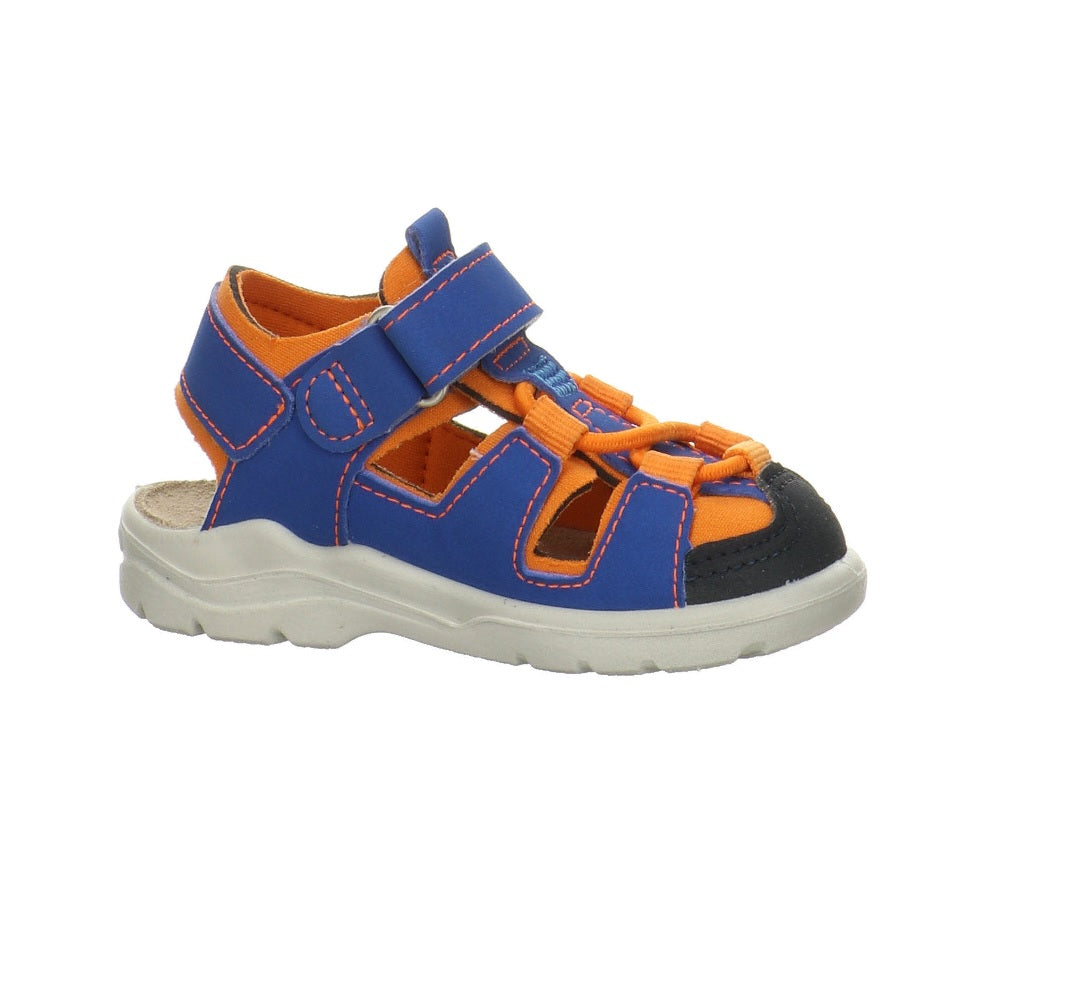 RICOSTA PEPINO BOYS CLOSED TOE SANDAL-WATER FRIENDLY-GERY-AZUR/PAPAYA