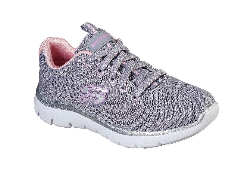 SKECHERS GIRLS-SIMMITS-302070L/GYPK