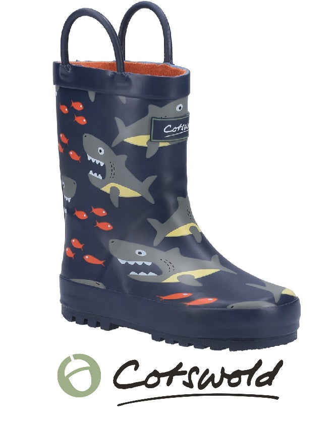 COTSWOLD BOYS WELLIES-SHARK