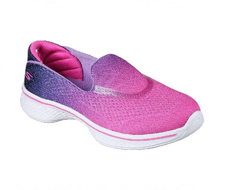 SKECHERS GIRLS-GO WALK 4-SPORTY STARZ-HPPR
