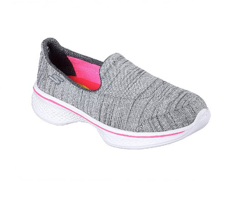 SKECHERS GIRLS-GO WALK  4-SATISFY-GREY