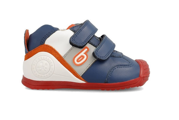 BIOMECANICS 202148A DOBLE VELCRO - NAVY ORANGE