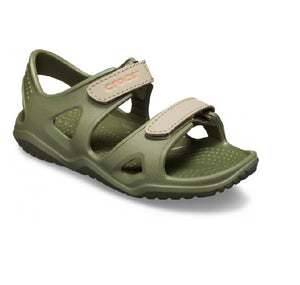 CROCS BOYS SWITFWATER RIVER SANDAL-ARMY GREEN