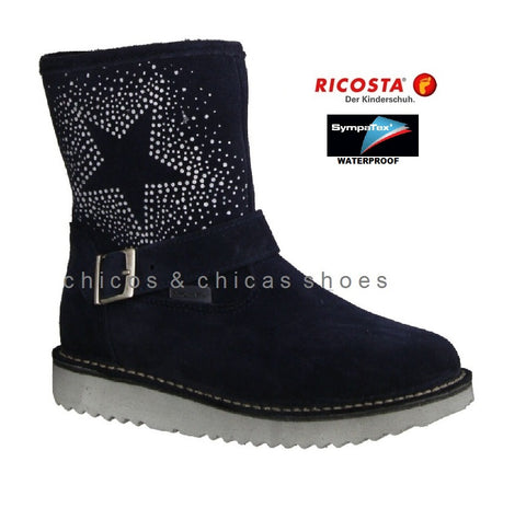 RICOSTA WATERPROOF BOOT-COSMA-9121000/182-NAVY