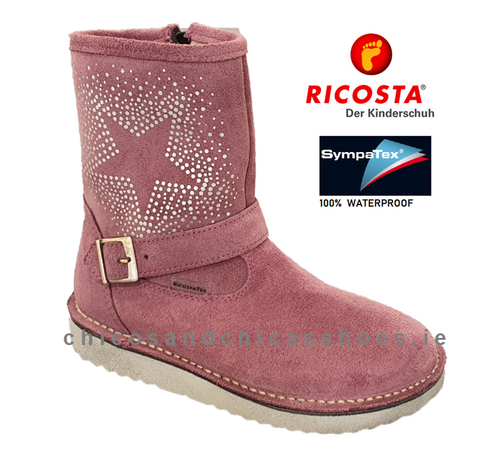 RICOSTA GIRLS WATERPROOF BOOT-9120400-320-COSMA- PINK