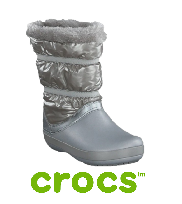 CROCS SNOWBOOT LODGEPOINT GRAPHIC AGR/CHAR C6/J2