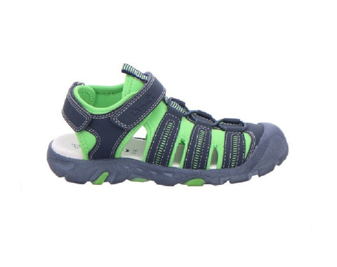LURCHI  BOYS CLOSED TOE SANDAL-VENTO-NAVY/GREEN