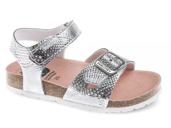 PABLOSKY GIRLS SANDAL 483650/483680 - SILVER or GOLD