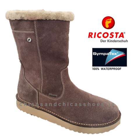 RICOSTA GIRLS WATERPROOF BOOT-9120300/460-RIMA- METEOR