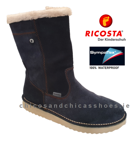 RICOSTA GIRLS WATERPROOF BOOT-9120300/460-RIMA- NAVY
