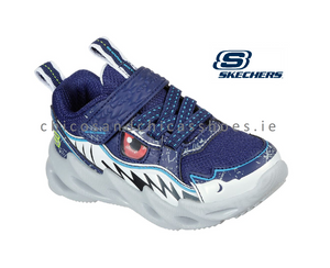 SKECHERS BOYS SNEAKERS-SHARK BOTS-SURF PATROL-402112L-NAVY
