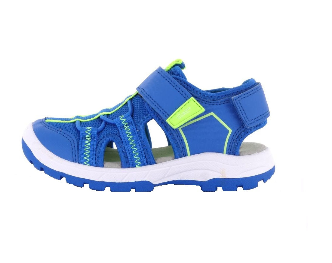 SUPERFIT BOYS CLOSED TOE SANDAL-4-09025-82-BLUE/GREEN