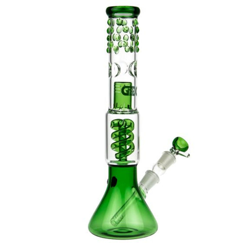 Spiral Perc Beaker Base Glass Ice Pipes - Puff And Vapes Store