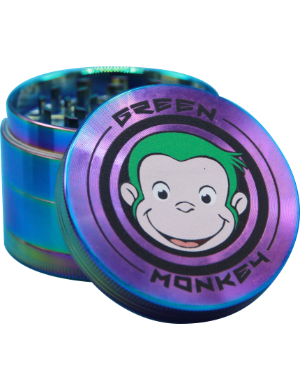 GREEN MONKEY GRINDER (RAINBOW) - Puff And Vapes Store