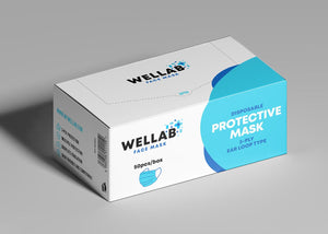 WELLAB 3 Ply Disposable Protective Mask 50pc