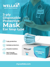 Load image into Gallery viewer, WELLAB 3 Ply Disposable Protective Mask 50pc