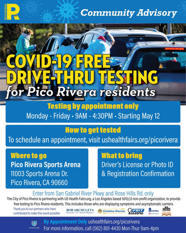 pico rivera covid 19 test