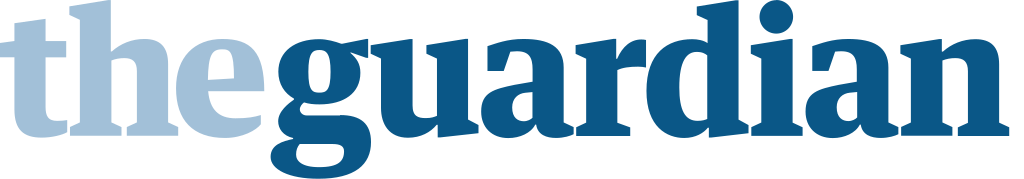 the guardian in blue lettering