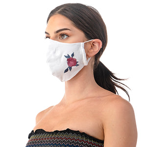 Floral Embroidery Face Mask - Masks Can Help