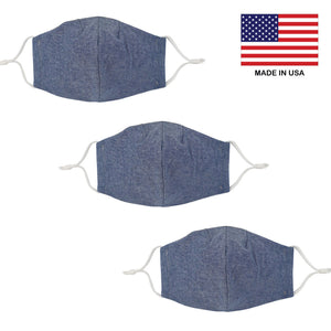 Reusable Face Mask - Made in USA (3 Pack) - Masks Can Help