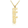 Vertical Gold Name Necklace