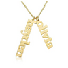 Vertical Gold Double Name Plate