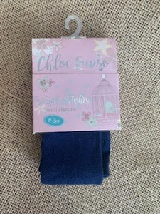 Chloe Louise Navy Baby Tights