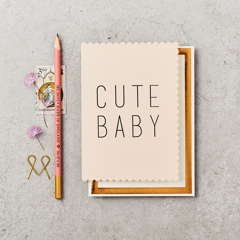 Katie Leamon Cute Baby Pink Card
