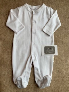 Petit Oh White Cotton Sleepsuit
