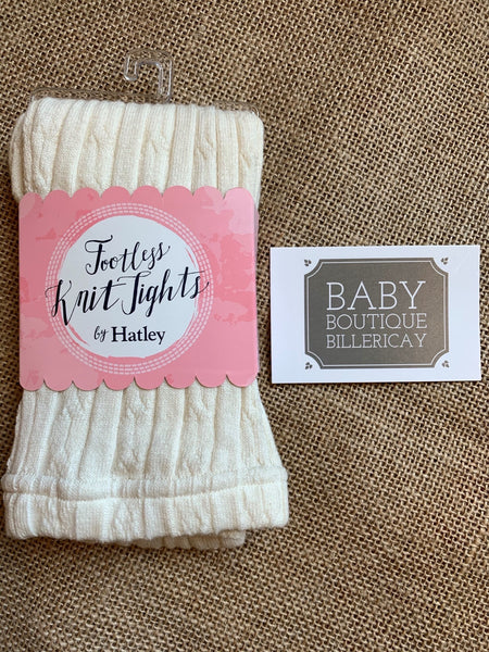 Hatley Cream Baby Footless Knit Tights