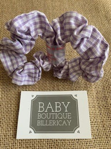 Hair Scrunchie Lilac Set