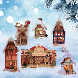 Decorating: Wood Cottages: The Secret To a Wonderful Christmas