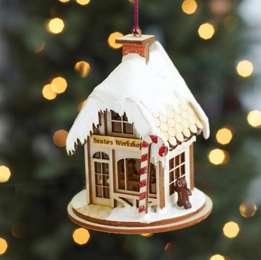 Decorating: Wooden Santa Workshop Ornament: The Best of Rustic Christmas Ornaments You Need This Festive Season