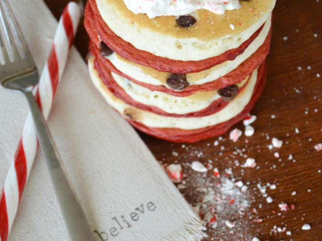 Recipe:  CANDY CANE PANCAKES
