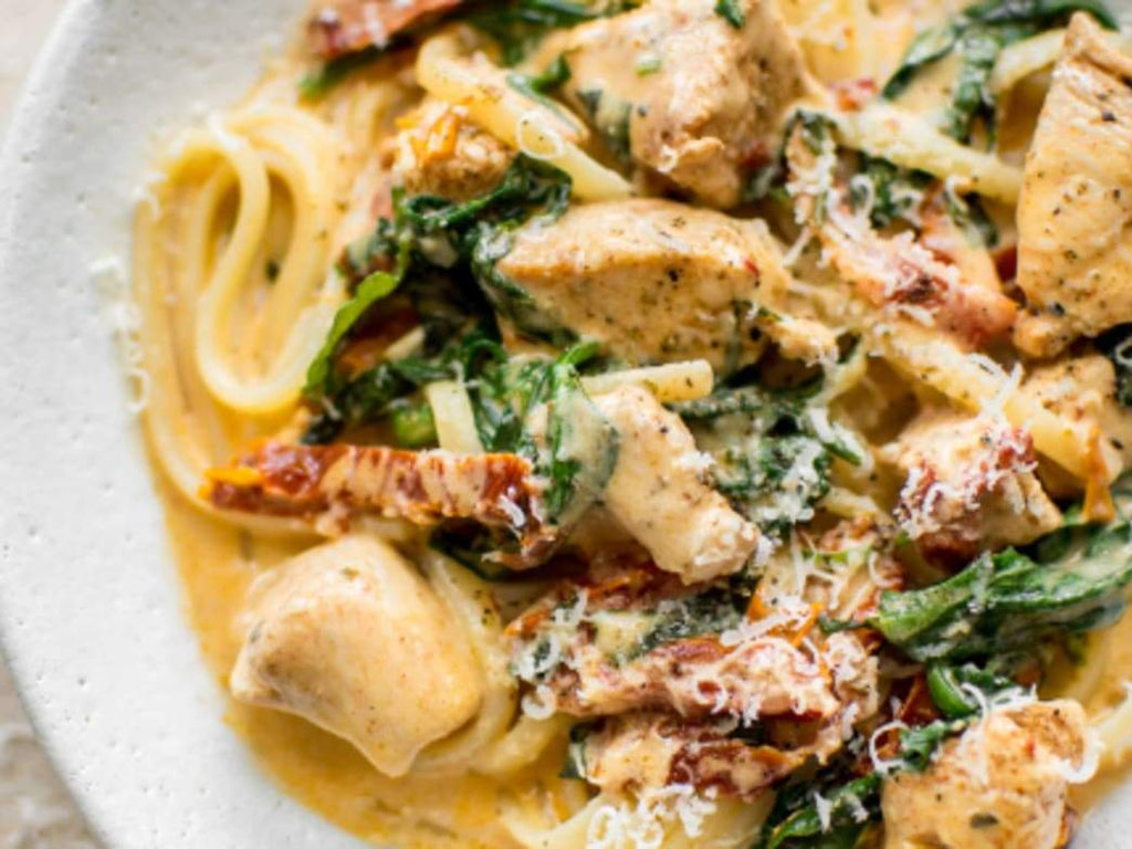 Recipe: CREAMY TUSCAN CHICKEN PASTA