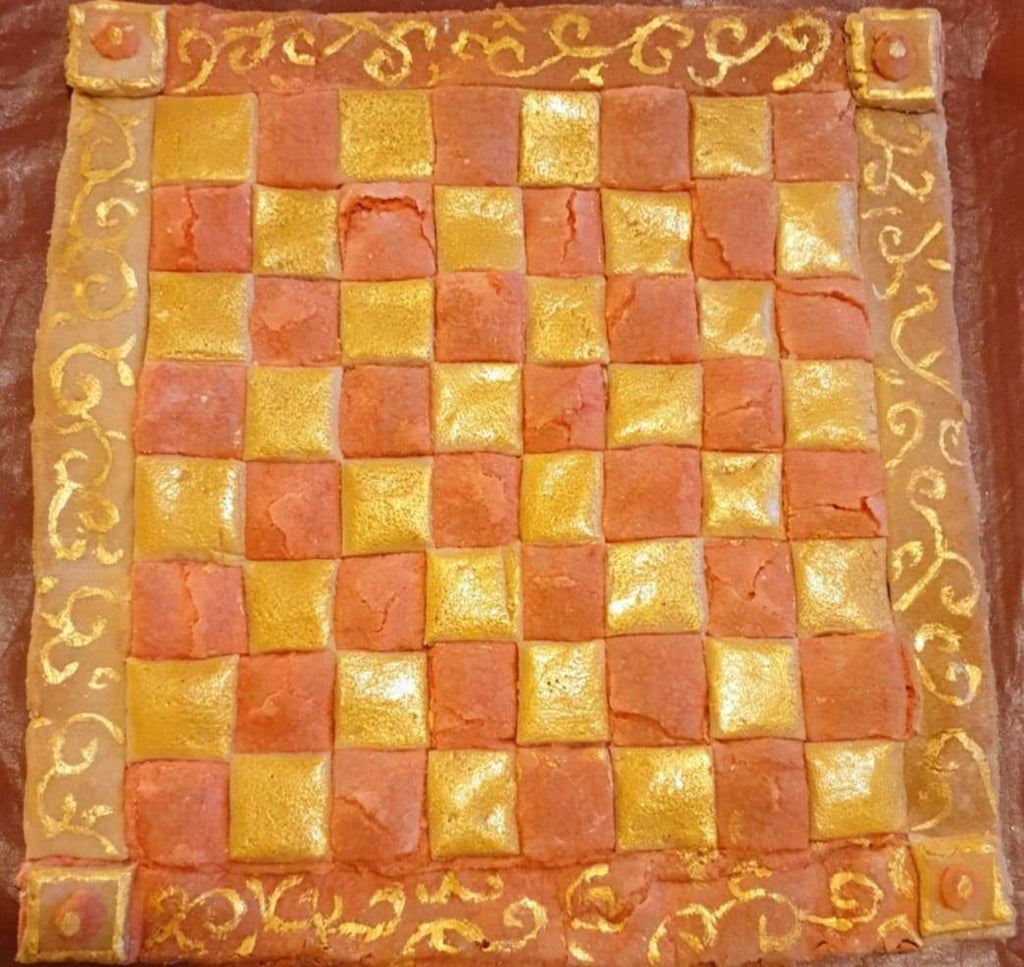 Recipe:  Faire Marchpane as a Chessboard