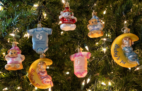 Baby's First Christmas - Blown Glass Christmas Ornaments | Schmidt Christmas Market
