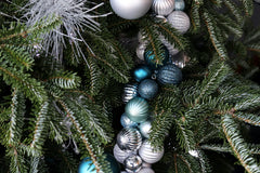 Blue and Silver Christmas tree by Schmidt Christmas Market