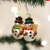 Pupuhi Kareini Whakairi Iti Iti Mr. Snowy Set of 2 Christmas Ornament