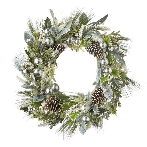 """30"""" FROSTED PINECONE WREATH - Schmidt Christmas Market Christmas Decoration"""