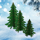 3D Tree Set for Christmas Village - Schmidt Christmas Market Christmas Decoration