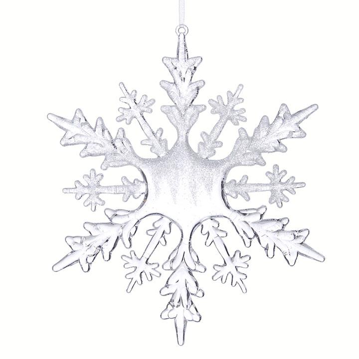 """8"""" FROSTED SNOWFLAKE ORNAMENT - Schmidt Christmas Market Christmas Decoration"""